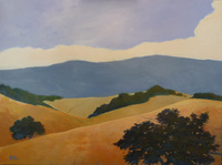 California hills, 30x40 in